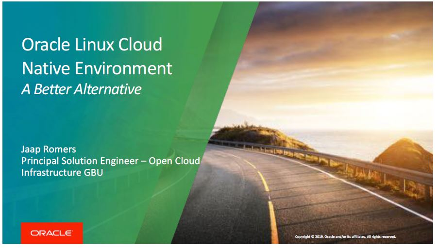 Hands-on lab 10 Apr 2019: Introduction Linux Cloud Native Env – Jaap Romers