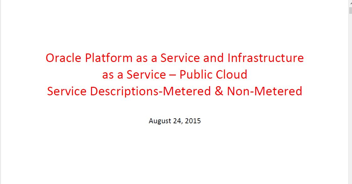 SIG Cloud 24 Aug 2015: Paas Iaas Service Description – Frank Brink