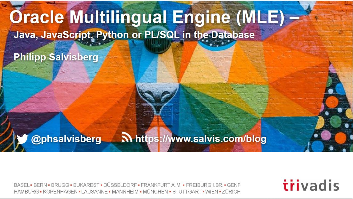 APEX 2019: Oracle Multilingual Engine (MLE) – Philipp Salvisberg