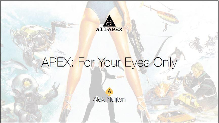 Meetup Maart 2021: For Your Eyes Only – Alex Nuijten